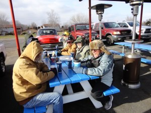 Last Friday lunch bunch was cold at least minus abillion