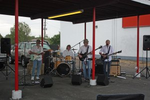 The Mystics a rock band from the 60's playing live in the parking lot